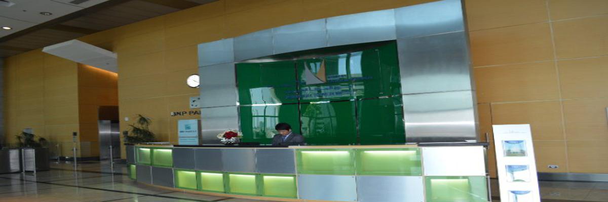 New Reception Desk Lighting