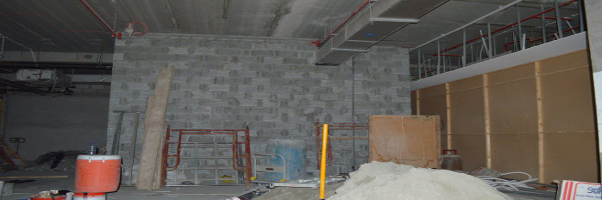 Our New Tenant & Client Shower Block is under construction!